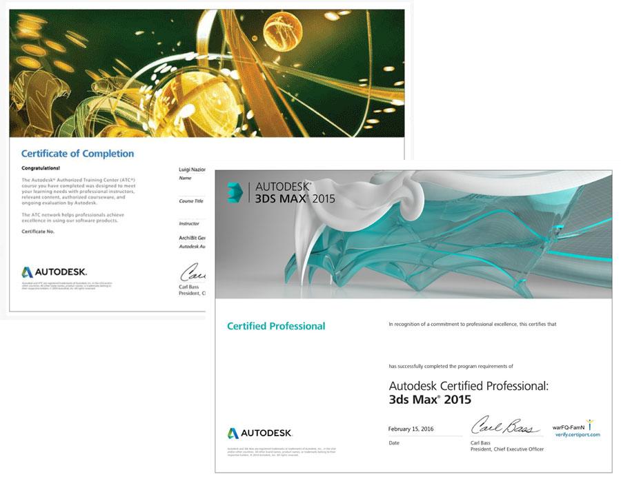 corso certificato esame professional autodesk 3ds max mini master archibit centro corsi autodesk certiport roma