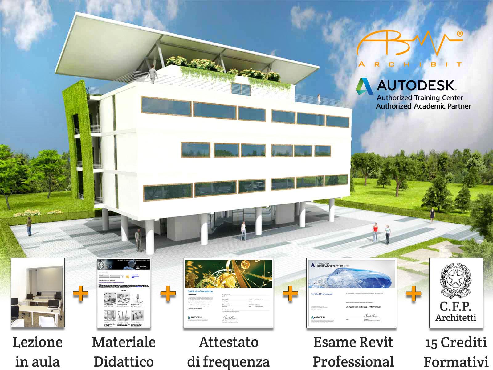 corso revit bim autodesk roma crediti formativi professionali architetti