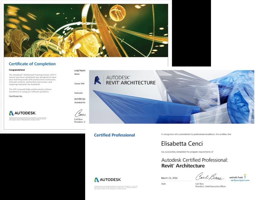 Attestati di frequenza e certificazioni professional Autodesk Revit, 3ds max e Autocad - Archibit Generation Adobe Photoshop - Centro corsi roma