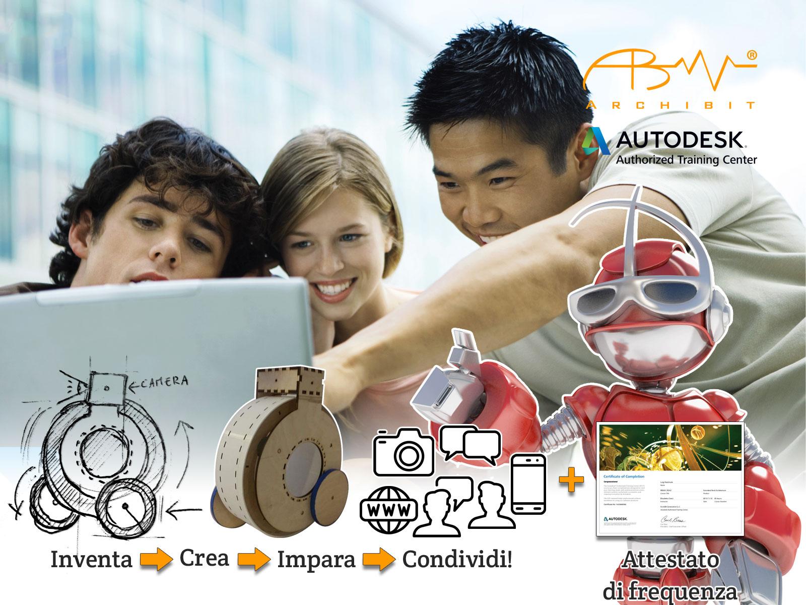 corso-summer-camp-tecnologico-summercamp-hitech-corsi-ragazzi-archibit-centro-autodesk-roma