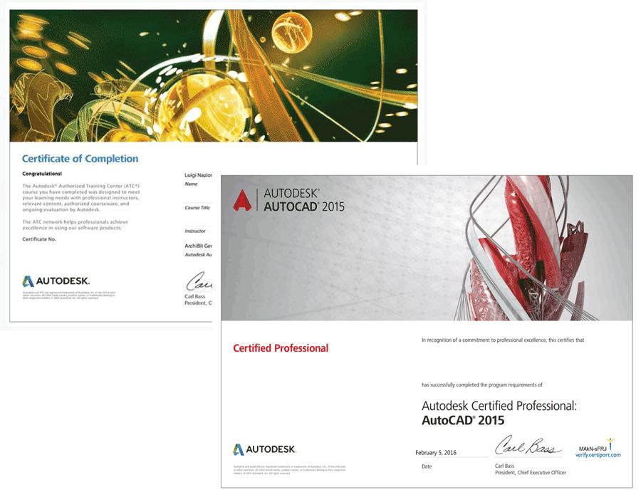 corso certificato esame autodesk professional autoCAD archibit centro corsi autodesk e certificazioni certiport roma