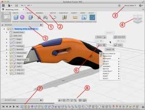 Interfaccia grafica di Fusion360 - Installazione e accesso Cloud Autodesk -Disegno 2D con Sketch